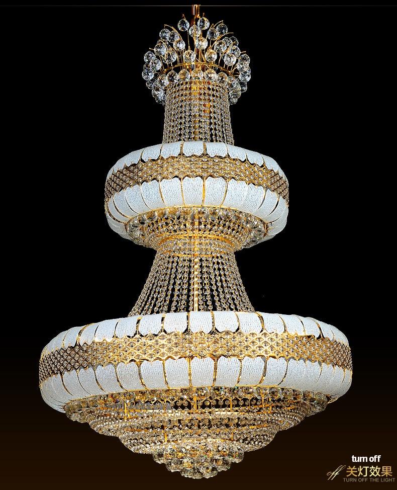 LED Avizeler Işıklar Fikstürü Altın Kristal Avize Altın Ev - İç Mekan Aydınlatma - Fotoğraf 4