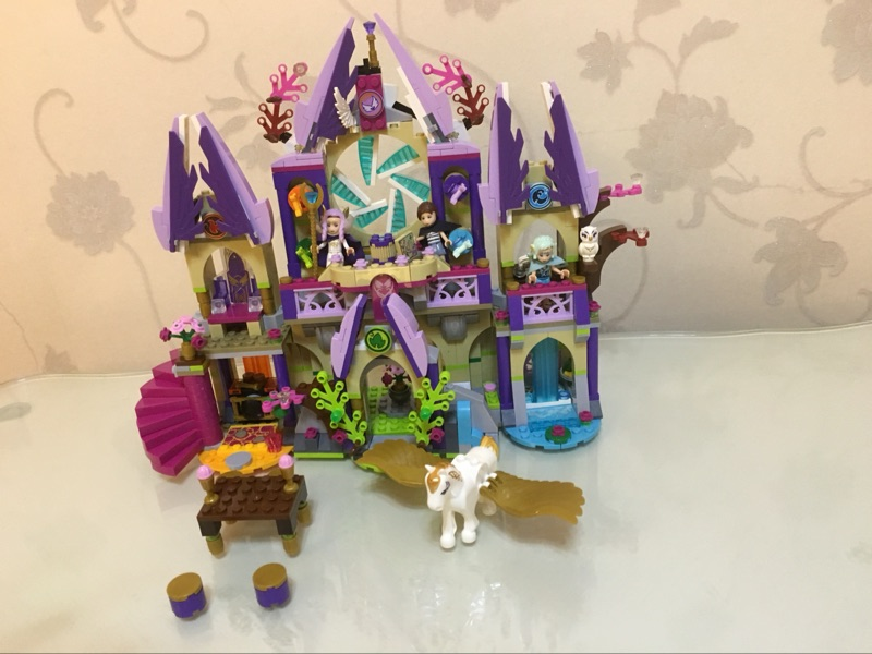AIBOULLY 10415 friends Elvesed series Skyra's Mysterious Sky Castle Model Building blocks bricks sets Toys Toy Elves 41078 gift 2017 10415 elves azari aira naida emily jones sky castle fortress building blocks toy gift for girls compatible lepin bricks