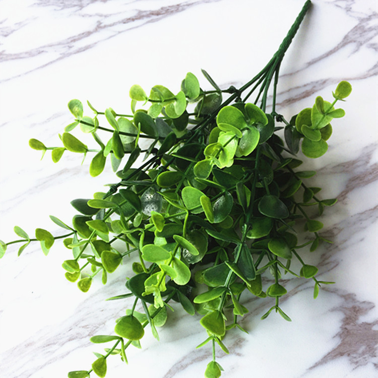 Green Artificial Plant Fake Leaf Foliage Bush Home Office Garden Decor Potted