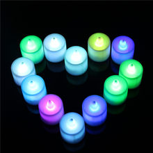 JSEX Home Creative Night Lights Colorful Small Candle LED Night Light Lamp Home Room Party Desk Wall Decor Kids Bedroom Decals(China)