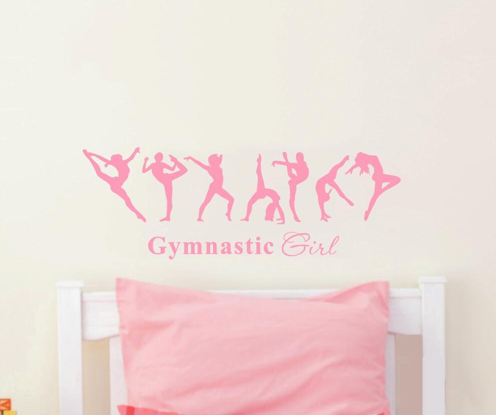 Gratis frakt vacker tjej gymnastik ballerina dac flagga väggdekor - Heminredning - Foto 3