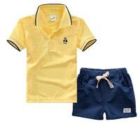 High Quality Boys Summer Clothes Sets Cotton Short Sleeve T Shirt Trousers 2pcs Newborn Baby Boys