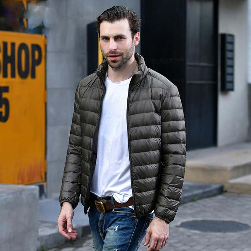 2019 New Autumn Winter Lightweight Thin 90% White Duck   Down   Jacket Men Casual Ultralight Male Feather Jackets   Coat   Ultra Light