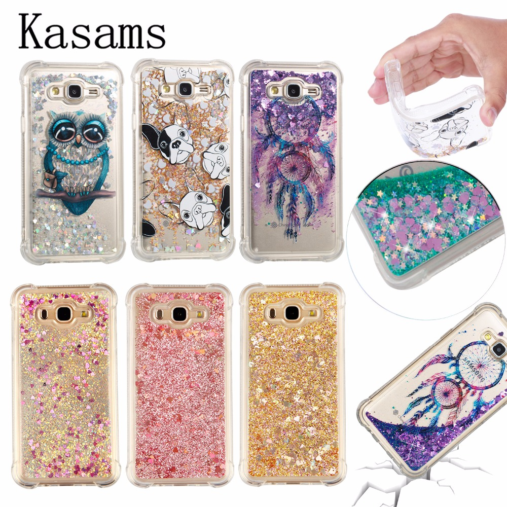 508d13f69c3 Quicksand For Samsung Galaxy J7 Neo J701M J7 Nxt J701F J7 Core J701FZ Duos  J700 Phone Case Glitter Liquid Shell Soft TPU Cover
