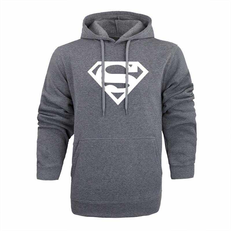 aed48d1d ... Новый Супермен Толстовка Batman Hooded Для мужчин Повседневное Хлопок  Осень/Зима Теплые кофты Для Мужчин's ...