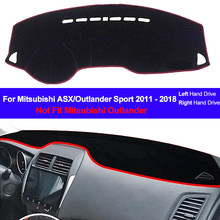 Car Auto Inner Dashboard Cover Dashmat Pad Carpet Dash 2 Layers For Mitsubishi ASX Outlander Sport 2011 2012 2013-2016 2017 2018(China)