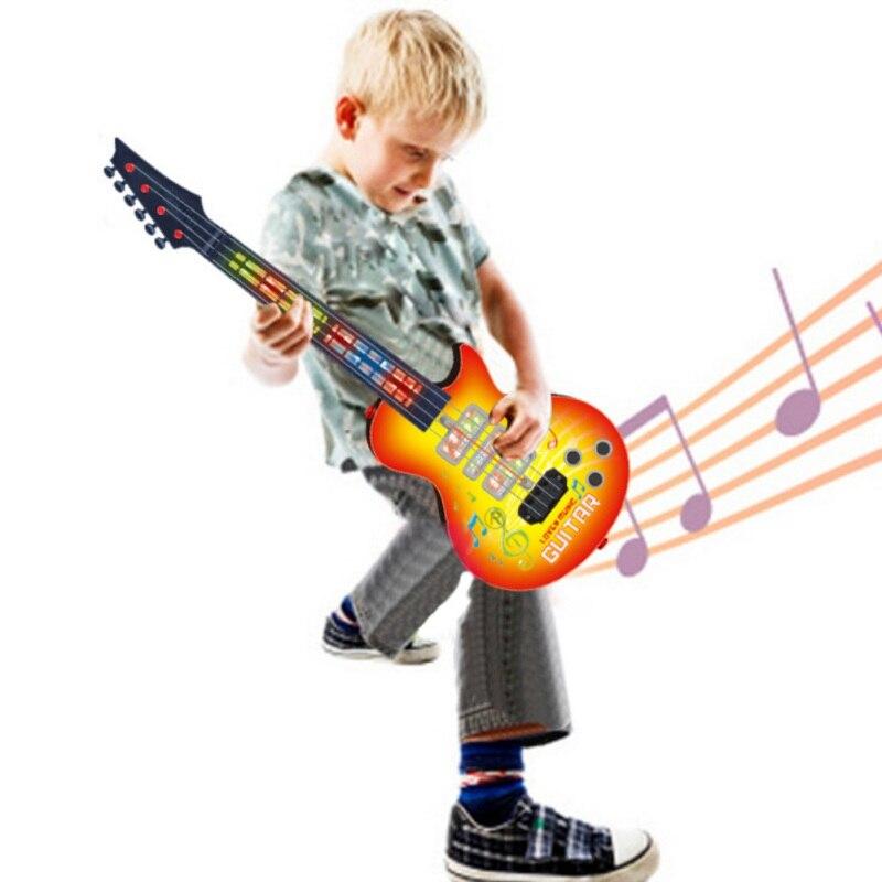 2018 Новый 4 Strings Music Электрогитары детские музыкальные инструменты Развивающие игрушки для детей ...