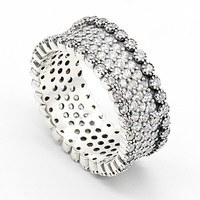 925 Sterling Silver Women Wedding Ring Micro Pave Tiny CZ Shining Finger Ring for women Ladies Engagement Fashion Jewelry