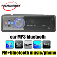 MP3 MMC WMA Radio Player Aux Input USB SD MMCCardReader 1 DIN Bluetooth In Dash FM Receiver Car Audio Stereo Remote Control