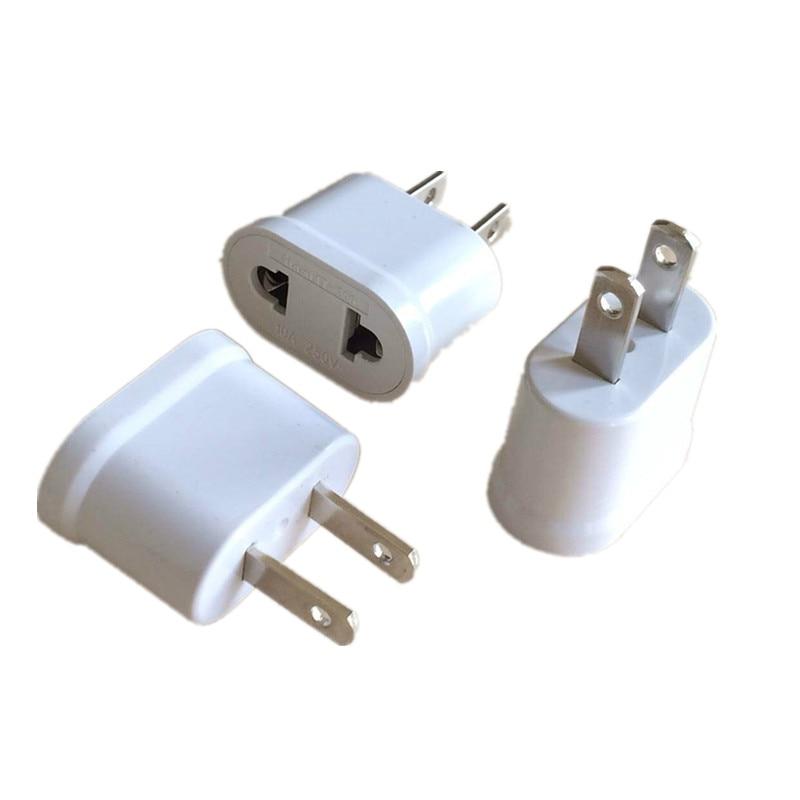 US USA EU EURO Europe Travel Power Plug Adapter Charger Converter USA Converter White
