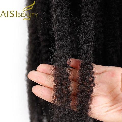 18 inch Ombre Marley Braids Hair Crochet Afro Kinky Synthetic Braiding Hair Crochet Braids Hair Extensions Bulk Black Brown Multan