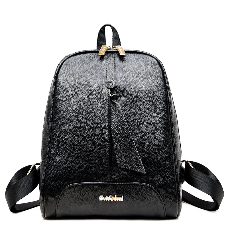 Famous Brand Women Backpack Luxury Designer Black Small Preppy Style Vintage Ladies Travel Bag School Bags For Teenagers Girls
