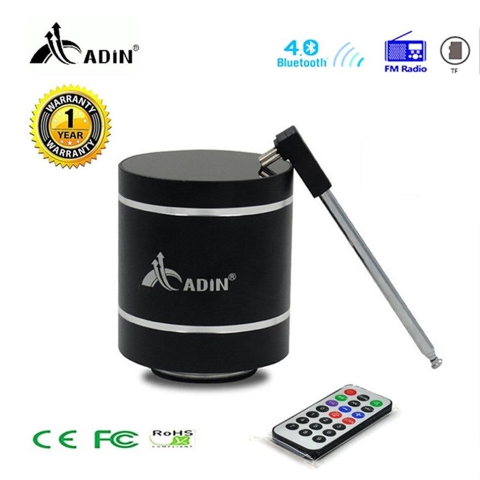 Bluetooth Vibration Speaker Adin Remote Control Portable FM Radio Wireless Speaker 15w Column Bass Computer Speakers For Phone