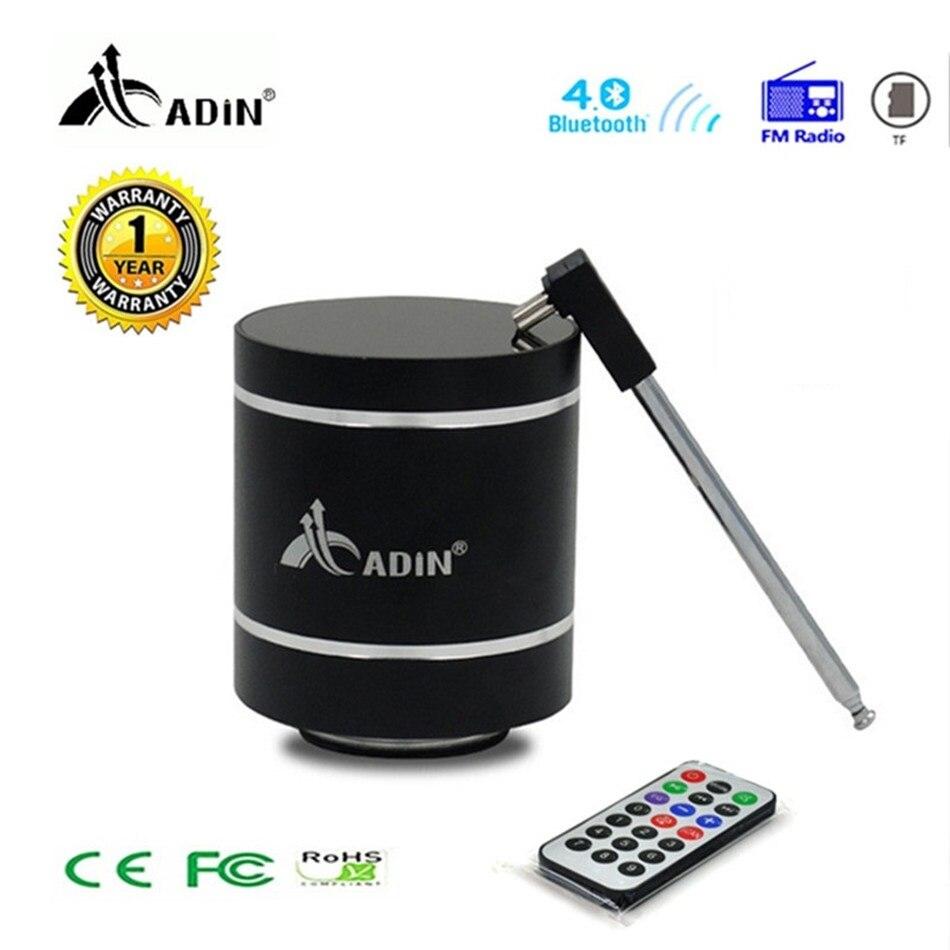 Bluetooth Vibration haut parleur Adin télécommande Portable FM Radio sans fil haut parleur 15w colonne basse ordinateur haut parleurs pour téléphone-in Subwoofer from Electronique    1