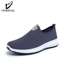 VESONAL; коллекция года; легкая мужская обувь из сетчатого материала без шнуровки; Повседневные Дышащие Удобные мужские кроссовки для прогулок; tenis feminino; обувь; A22