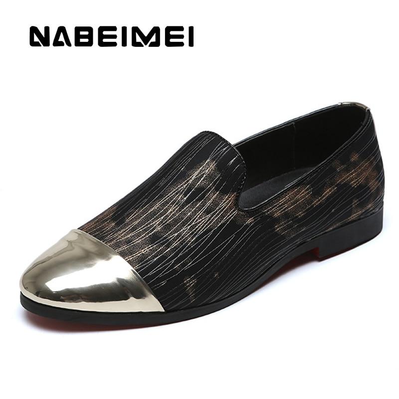 Grande Patchwork Bateau Hommes sur 5 golden Social Formelle Superstar 5 De Marque Slip Cuir Taille Sliver Chaussures 15 2018 En Nouveau Mâle 8wqx6Fw5