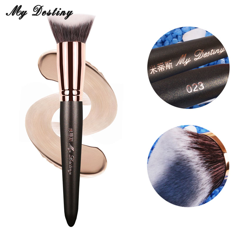 MY DESTINY 3D Hair Base Foundation Brush Kabuki Make Up Makeup Brushes Pinceis Pincel Maquiagem Brochas Maquillaje Pinceaux 023 кисти для макияжа kabuki brush 100% 27 pinceis maquiagem makeup brushes