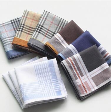 10pcs Pure Cotton Men Women Handkerchiefs Pocket Party Hanky White