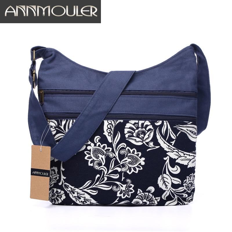 503284182d9 Cotton Fabric Sling Shoulder Bag Women's Vintage Hippie Patchwork Messenger  Bag Thai Style Hobo Shoulder Gypsy Bag
