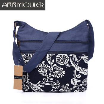 Cotton Fabric Sling Shoulder Bag Women's Vintage Hippie Patchwork Messenger Bag Thai Style Hobo Shoulder Gypsy Bag