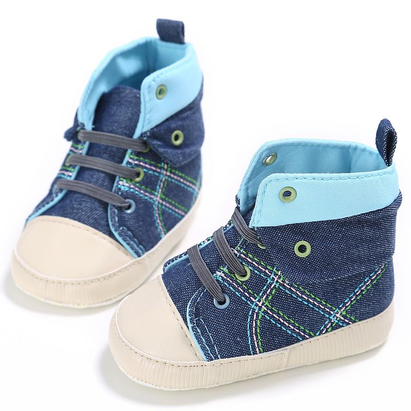 Baby Boy Girl First Walker High Quality Infant Kids Soft Sole Canvas Shoes Newborn Toddler