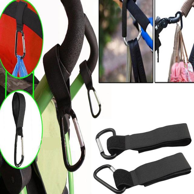 4pcs/Set Stroller Hooks Bag Hanger Hooks