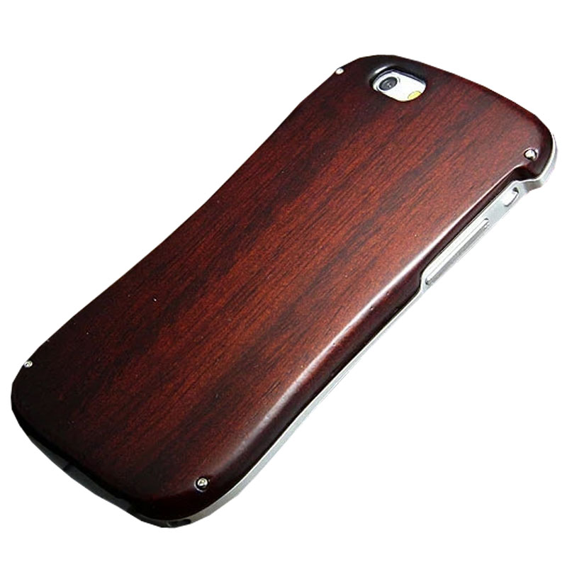 R-JUST Case for <font><b>iPhone</b></font> 6S Fundas Luxury Wooden Duty Metal Aluminum Frame Wood Bamboo Coque Cover Phone bags for <font><b>iPhone</b></font> 6 6S case