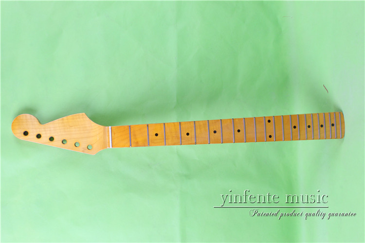 0023# 25.5 yellow Electric guitar neck maple made Bolt on maple fingerboard fine quality 22 fret 25 5 electric guitar neck mahogany made bolt on maple fingerboard fine quality 22 fret 0019
