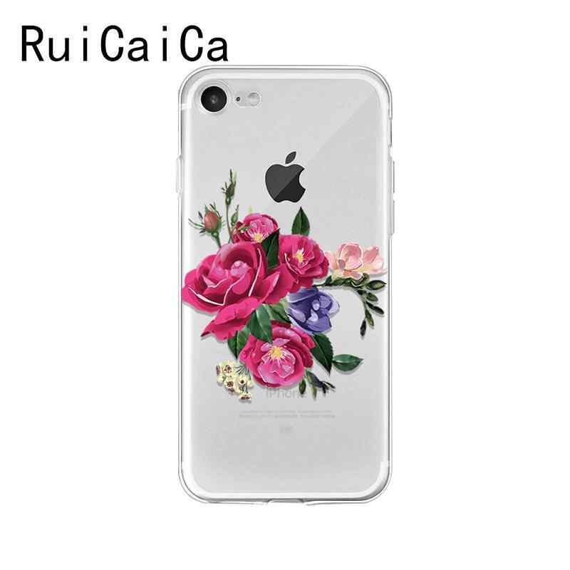 Ruicaica ดอกไม้ peony rose sunflower Lotus Tpu โทรศัพท์สำหรับ iPhone 8 7 6 6 S Plus X XS MAX 5 5 S SE XR 10 Capa