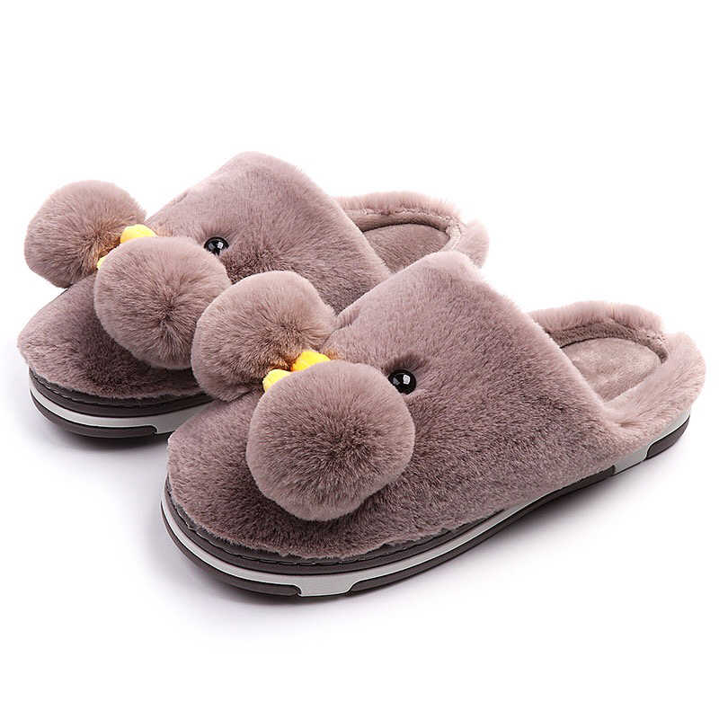 290637be933c8 ... Winter Warm Yellow Duck Slippers Cartoon Family Couple Shoes Cute  Animal Plush Slides Unisex Home Shoes ...