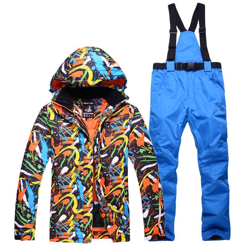 Chaquetas De Nieve Pantalones De Cinturón Para Hombre Juegos De Traje De Snowboard Deportivo Para Exteriores Ropa De Esquí Transpirable Impermeable Traje De Invierno Más Barato Chaquetas De Esquiar Aliexpress