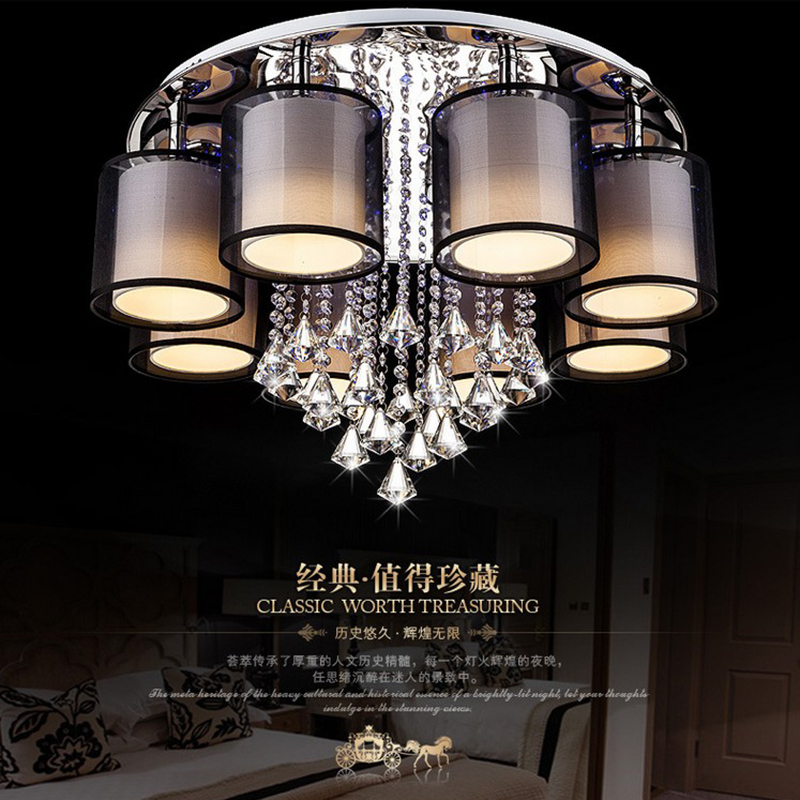 modern crystal ceiling lights lampen kristal moderne black  fixtures lighting luminaire for living room bedroom kitchen lamp noosion modern led ceiling lamp for bedroom room black and white color with crystal plafon techo iluminacion lustre de plafond