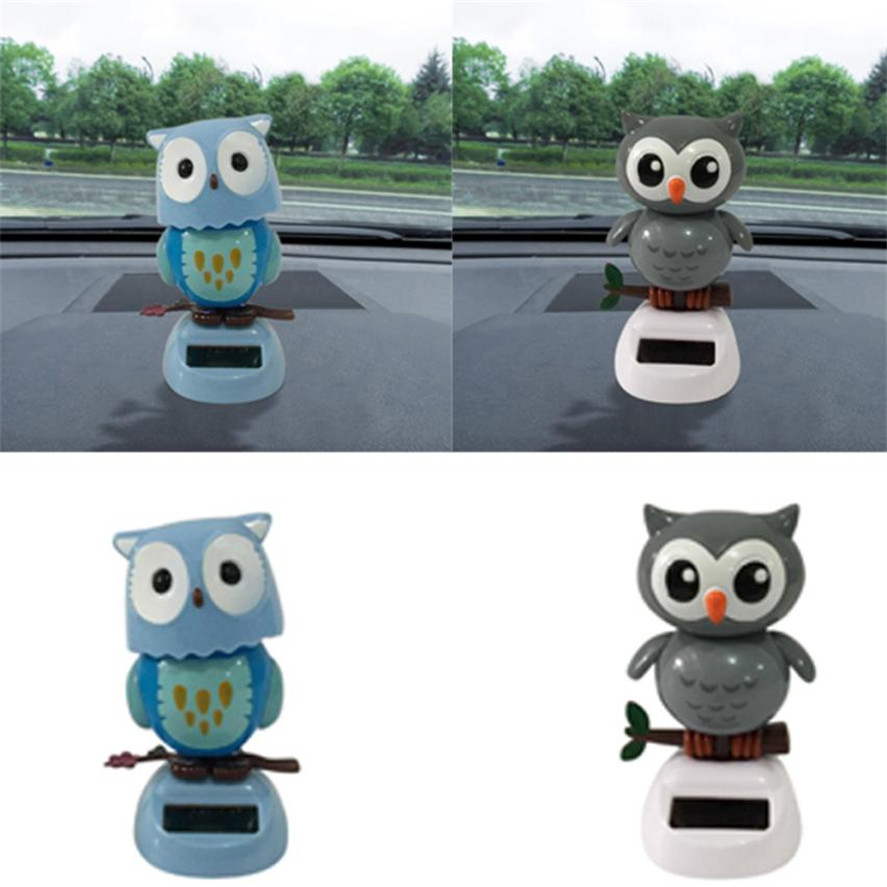 Dropship Hot Selling 1PC Cute Owl Solar Powered Dancing Animal Swinging Animated Bobble Dancer Toy Car Decor Solar Dancing Toy
