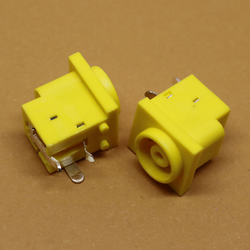 ChengHaoRan 1 Piece Power Charging Socket Port Connector Laptop DC Jack For SONY Series/ Samsung Series Yellow,DC-202