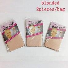 48 stuks (24 zakken) deluxe Pruik Cap Voor Weave 2 stuks/pak Haarnetjes Stretch Mesh Pruik Cap 5 kleuren haarnetjes