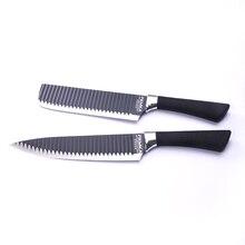 """Bestnote Edelstahl 2 stücke Küchenmesser Küchenmesser Set mit 8""""Chef 7 """"Kleine Hackmesser mit Speziellen klinge Design"""