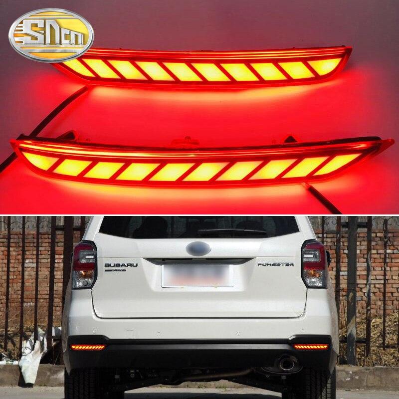 For Subaru Forester 2008~2016 LED Reflective light Rear Bumper Lamp Turn Signal Light