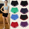 2015 Hot Girls Casual Candy Color Hot Shorts Neon Color Cotton High Waist  Fitness Dance Women Shorts