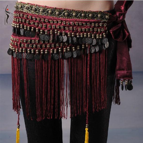 2016 Hot Selling Cheap Women Tribal Belly Dance Hip Scarves Belly Dancing Waist Belts On Sale NMMHS001