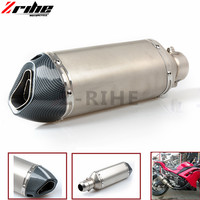 Motorcycle Parts Exhaust Universal 51mm Stainless Steel Motorbike Exhaust Pipe For KTM Bmw R1200gs F800 GS