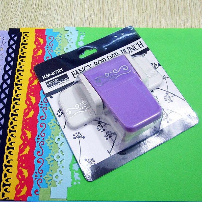 1 Pcs Gaya Fancy Border Craft Pukulan Kecantikan Bunga Segar Desain Busa Kertas Pukulan Scrapbooking untuk Pembuatan Kartu DIY Handmade kerajinan