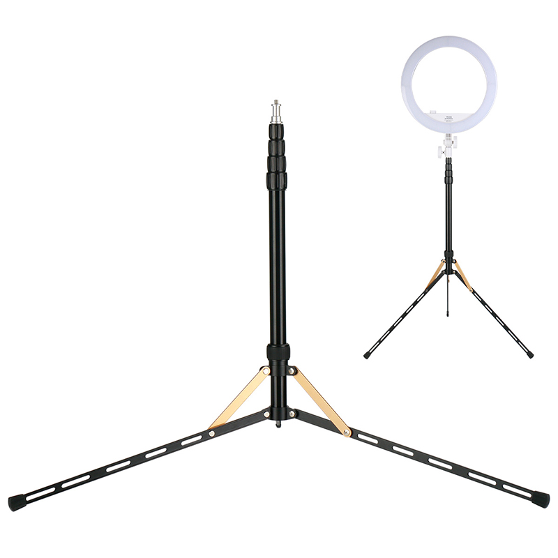 83inch Lightweight Foldable LED Light Stand Tripod for Ring Light 1/4 Screw for Smartphone Video Rig Livestream Beauty Broadcast