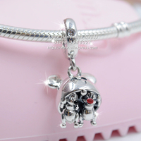 2019 Release Disn ey Parks Collection Sterling Silver Chip 'n Dale Mickey Ear Hat Dangle Charm Fit European Bracelets Necklaces