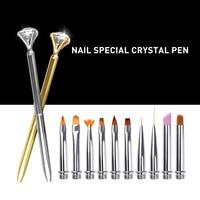 Projeto da arte do prego escova pintura Puxe a linha Ouro prata rosegold pen escova Gel UV Pen Escova de Pintura com Strass decoração