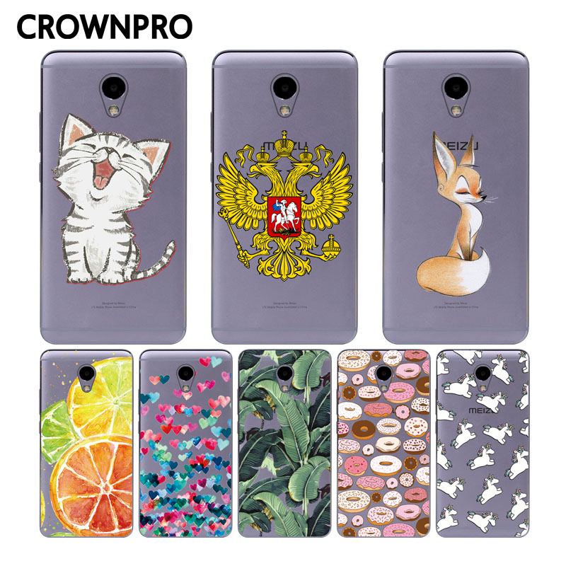 CROWNPRO Silicone Case Meizu M5 Note Case Soft TPU 5.5inch Cover Protective Meizu M5 Note Phone Back Cover Meilan Note 5