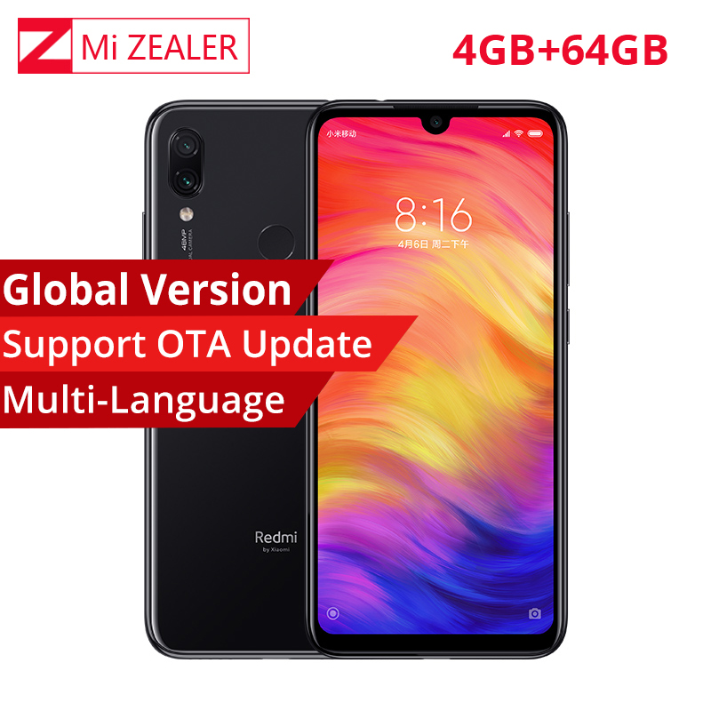 "Global Version Xiaomi Redmi Note 7 4GB 64GB Mobile Phone Snapdragon 660 Octa Core 4000mAh 48MP 5MP Dual Cameras 6.3"" Full Screen(China)"
