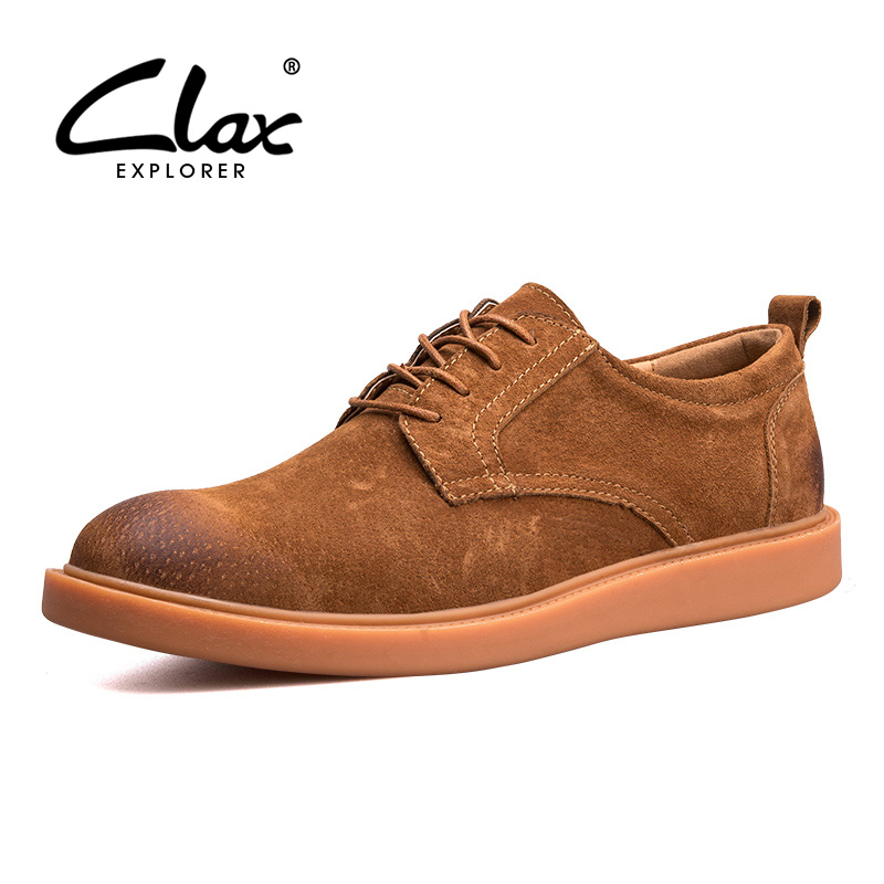 CLAX Men's Oxford Shoes 2018 Spring Autumn Suede Leather Casual Shoe for Male Fashion British Style Leisure Footwear Soft clax men loafers shoes slip on 2017 summer autumn leather shoe for male casual footwear flat moccasin boat shoe breathable