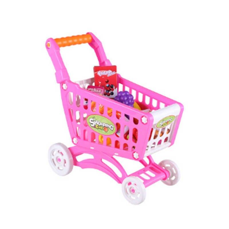 Mainan Anak-anak Menyenangkan Bermain Rumah Keranjang Belanja Simulasi Supermarket Sayuran Buah Gadis Bayi Hobi Trolley Mini Hadiah Natal