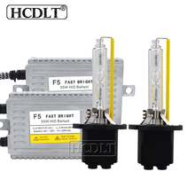 Hcdlt AC 55 Вт D2H Xenon Kit Автомобильная фара HID ксеноновая лампа H1 H3 H11 HB3 HB4 9012 H7 5500 K лампа DLT F5 Быстрый старт тонкий ксеноновый балласт