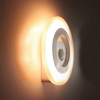 Sensor de luz Corpo Humano Lâmpada de Indução de Movimento Sem Fio LEVOU Bateria AAA Luz Para Gabinete Armário de Cabeceira Corredor